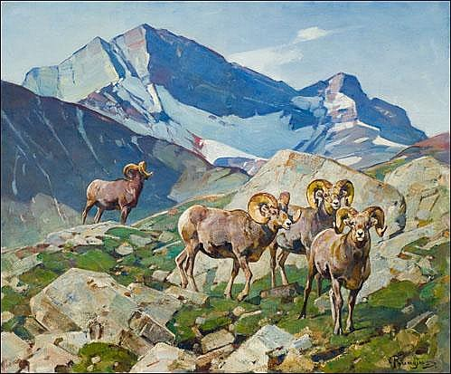 Rungius, Carl: Old Men on the Ram River 1949