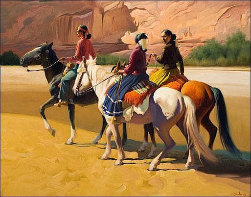 Delano, Gerard Curtis: Navajo Signed l.r. O/C