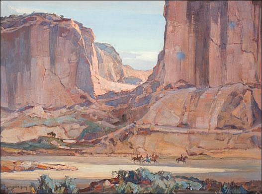 Borg, Carl Oscar: Canyon de Chelly, Arizona 1932