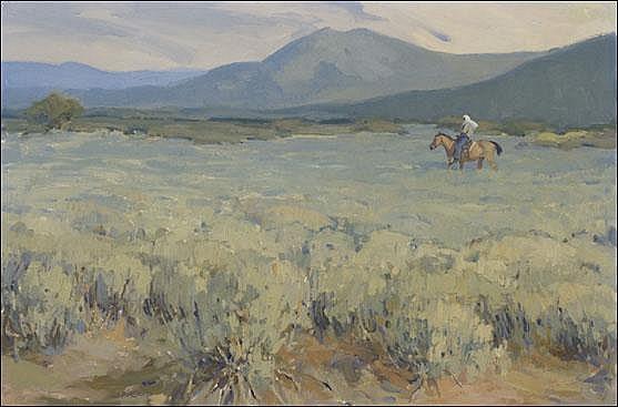 Jacob, Ned: Taos Morning Signed l.l. O/CB 24x36