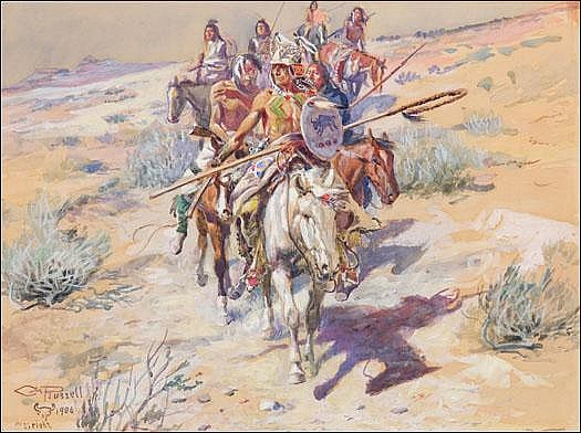 Russell, Charles M.: Return of the Warriors, 1906