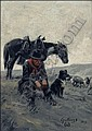 Gollings, E. William: Cowboy with Sheepdog 1913, Bill Gollings, Click for value