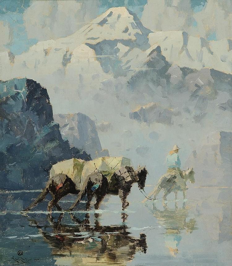 Packhorses below Mt. McKinley