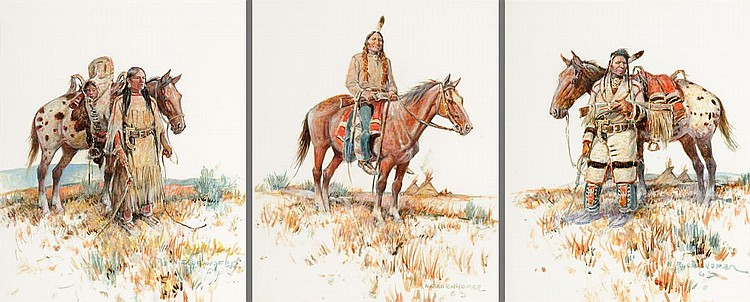 Group of 3: Chief Joseph (1963), Sacagawea (1963), Sitting Bull (1963)