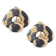 Marina Bulgari, lobe earrings  peso 30 gr.