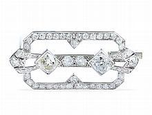 Decò diamond and platinum brooch