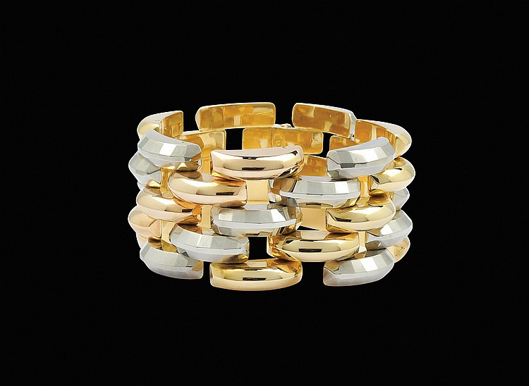 An 18kt three colours gold bracelet
