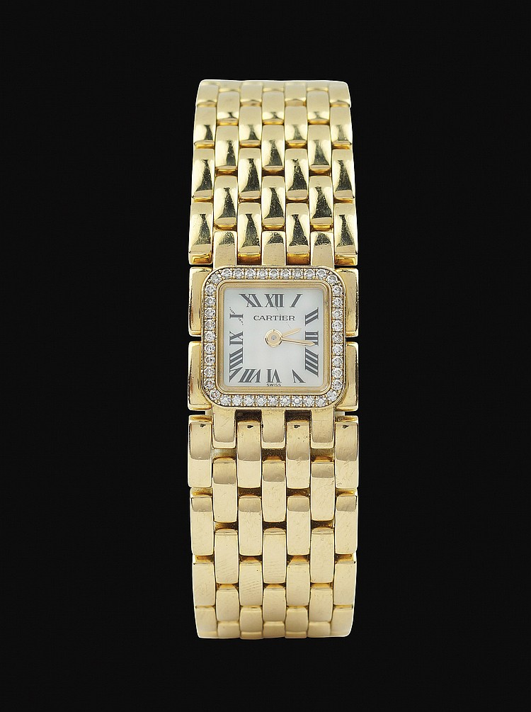 A Cartier Ruban lady wrist watch