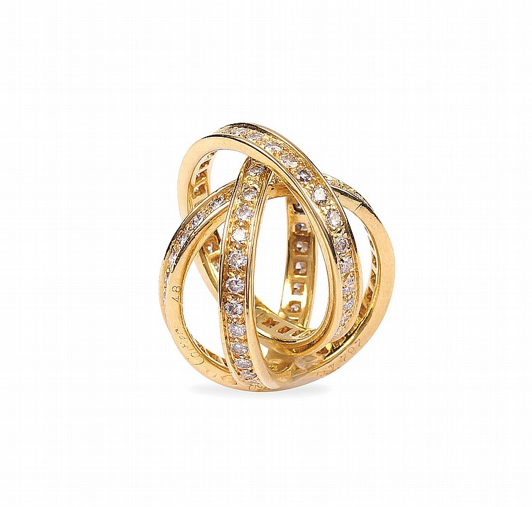 A Cartier 18kt gold and diamonds