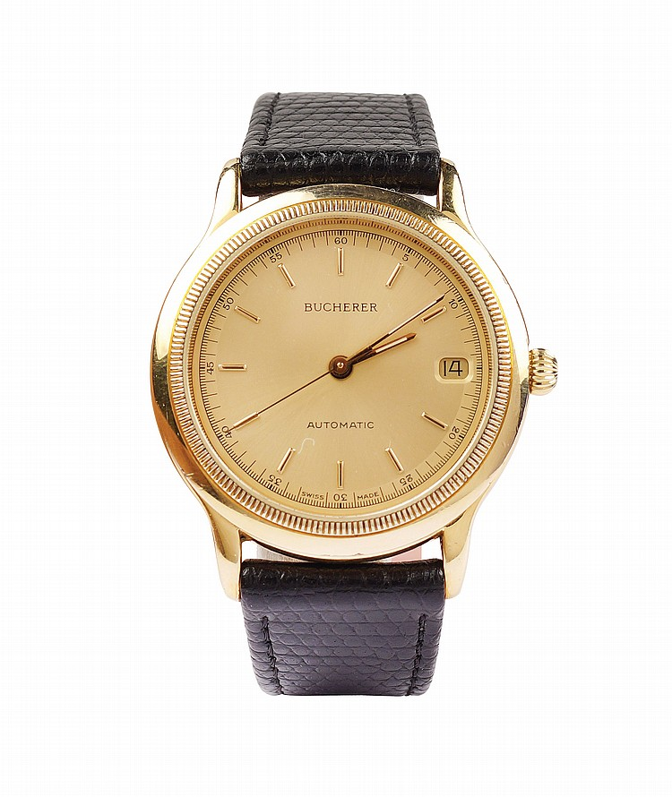 A Bucherer Automatic gold laminate wrist watch