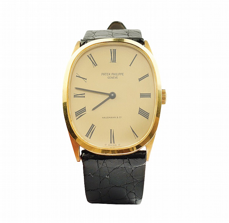 A Patek Philippe Ellipse Hausmann & Co wrist watch