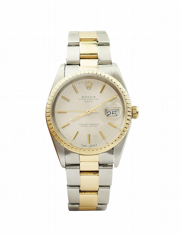 A Rolex Oyster Perpetual Date wrist watch