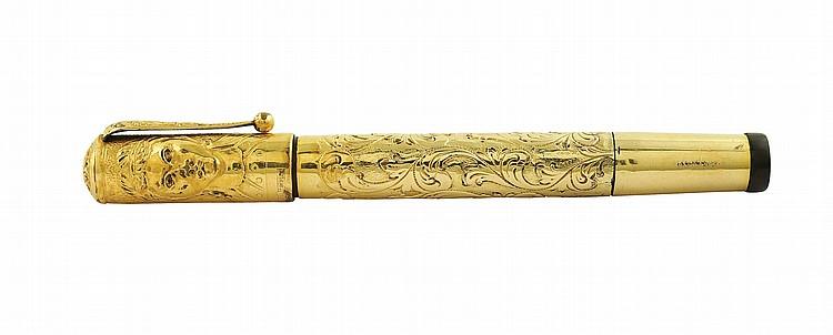 An 18kt gold antique fountain pen