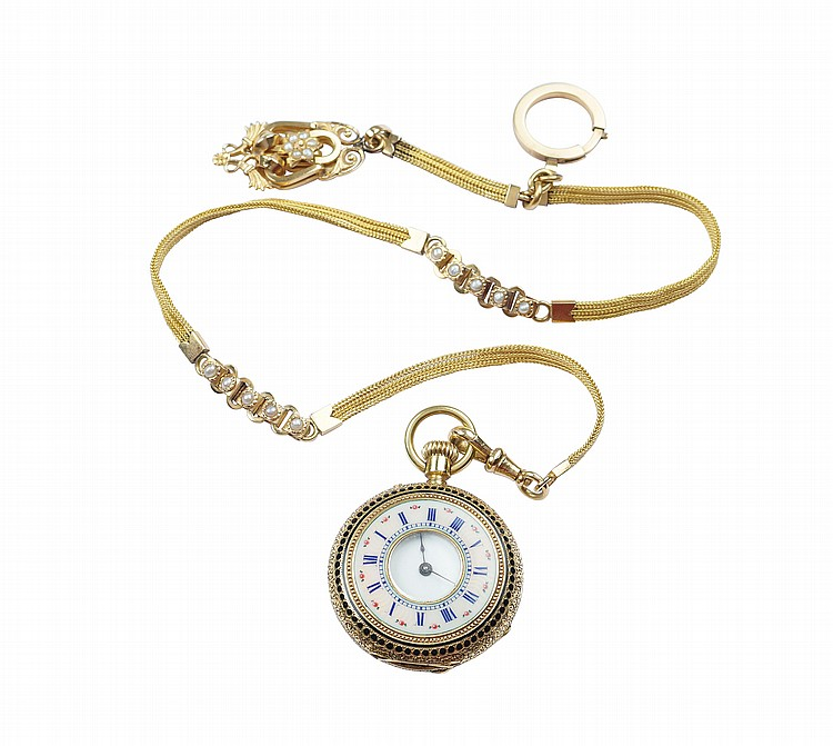A demi-savonette pocket watch