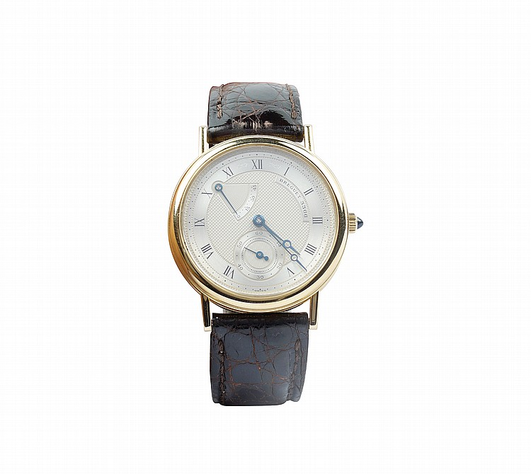 A Breguet 18kt gold wrist watch