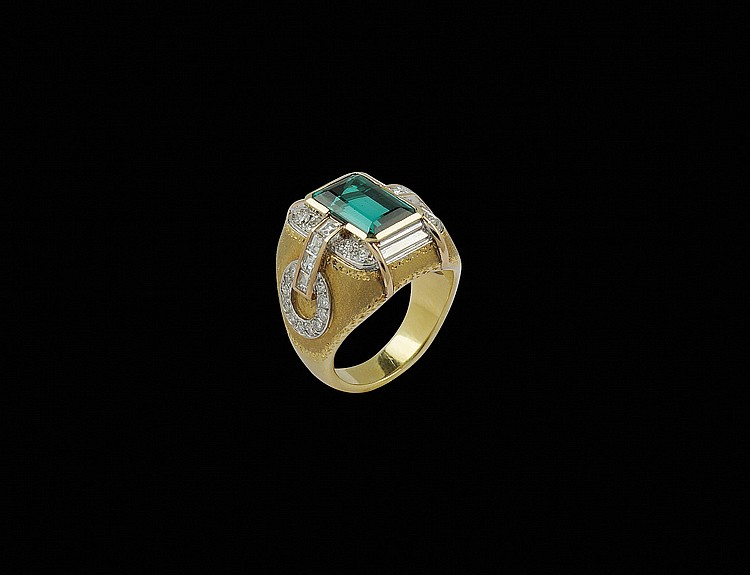 An 18kt gold Cazzaniga ring