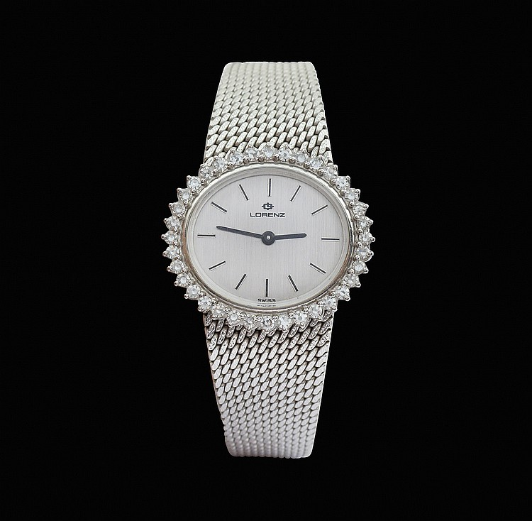 A Lorenz 18kt white gold lady watch