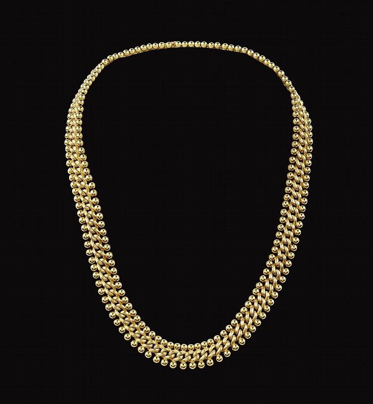An 18 kt yellow gold collier