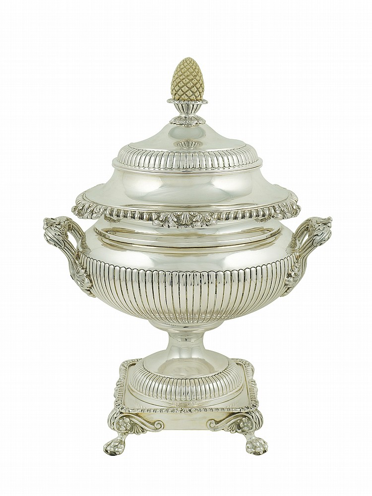 An Italian silver centerpiece