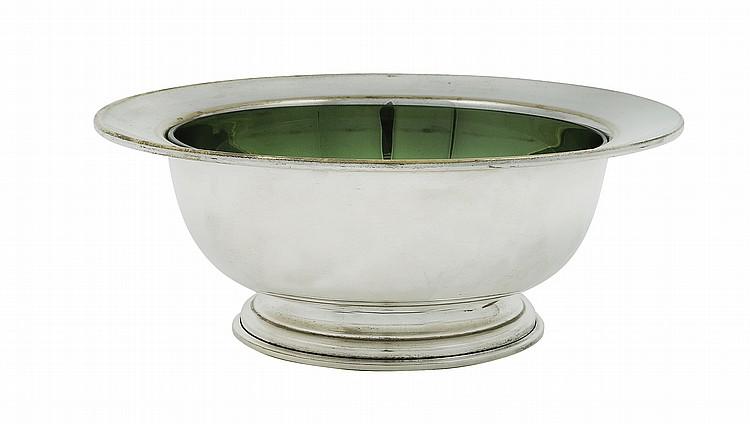 An Italian silver plate bowl