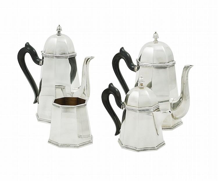An Italian silver tea and coffee service