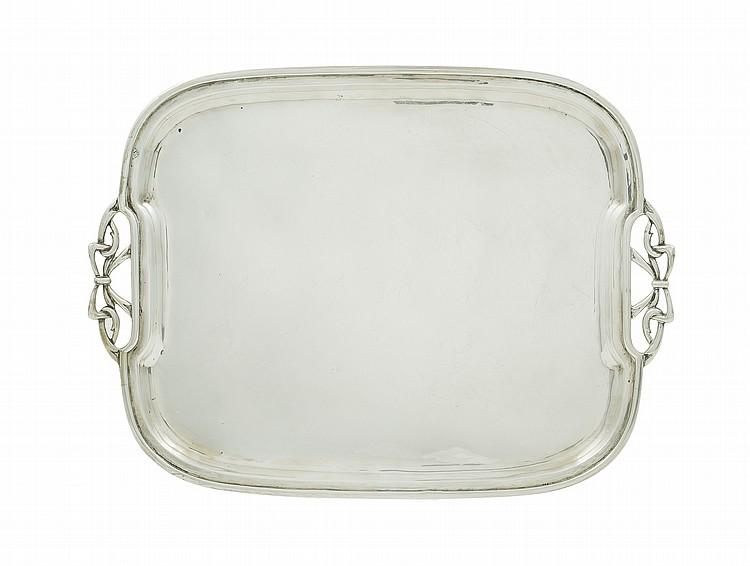 An Italian silver tray