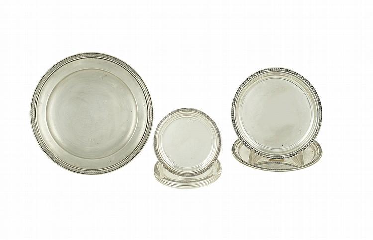An Italian silver set (9)