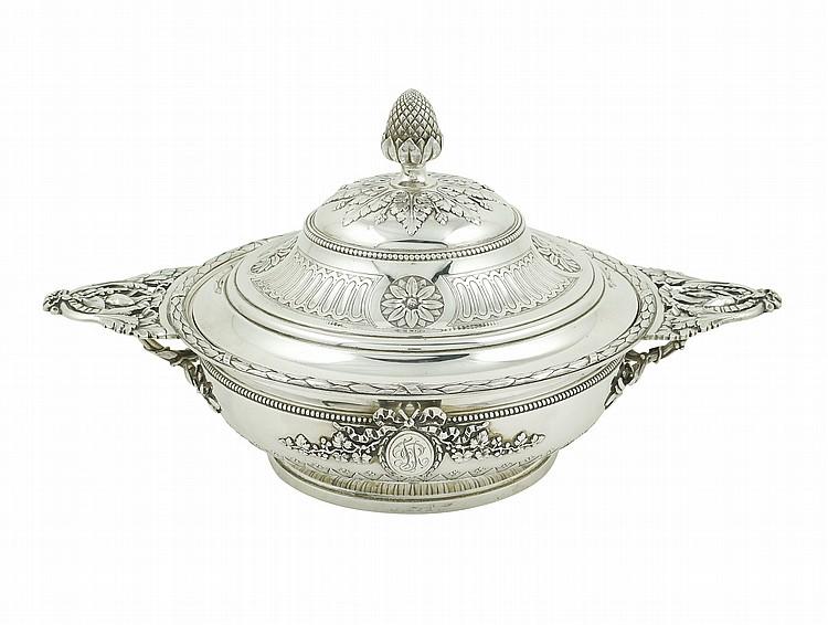 A Maison Odiot silver ecuelle
