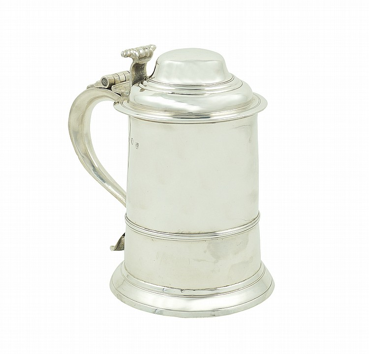 An English silver tankard