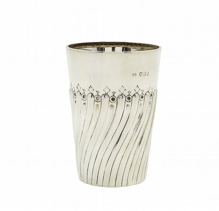 A Victorian silver glass