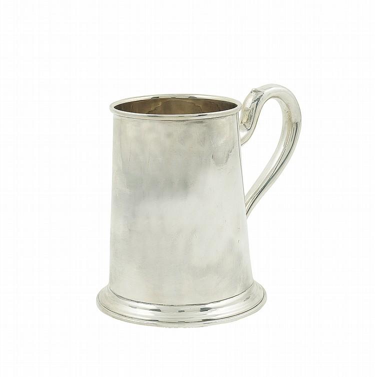 A silver mug