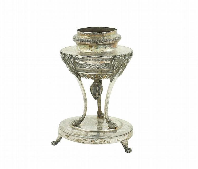An Italian silver jar