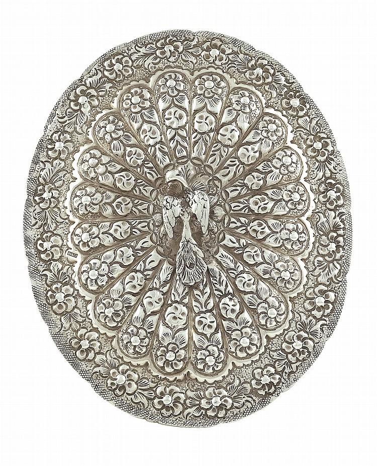 A Turkisch silver harem mirror