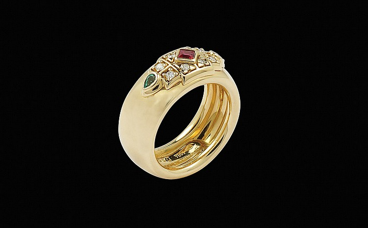 A Cartier 18kt gold ring