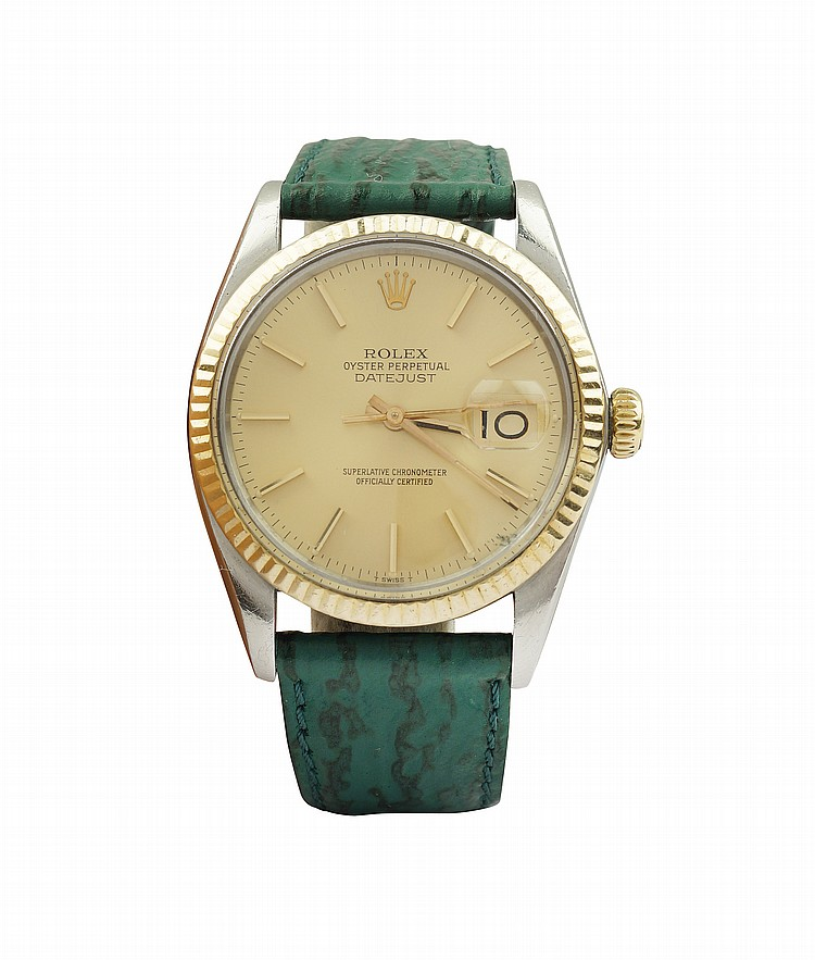 A Rolex Oyster Perpetual Datejust wrist watch