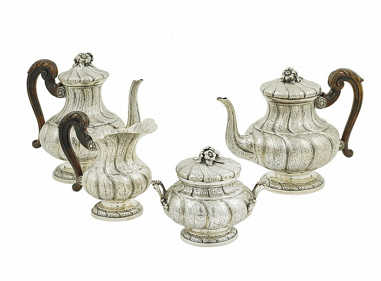 An Italian silver tea and coffee set