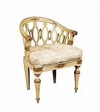 An Italian lacquered wood armchair