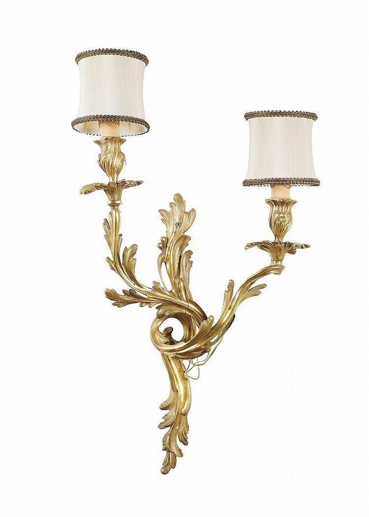 A French gilt-bronze applique