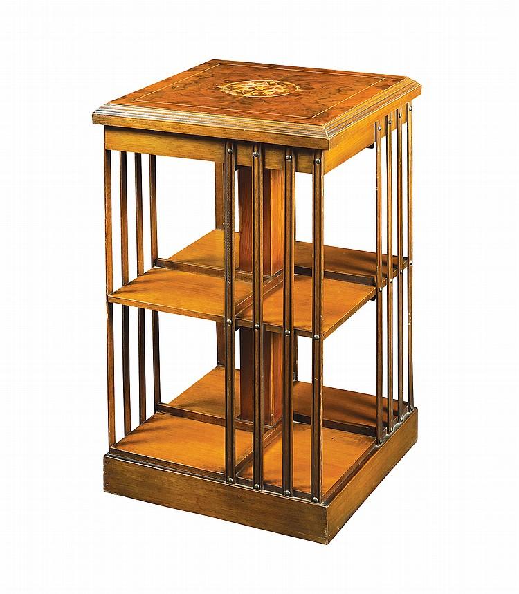 An English walnut bookshelf
