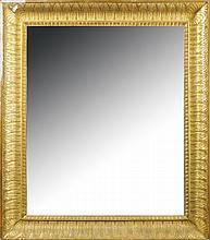 A French gilt wood mirror