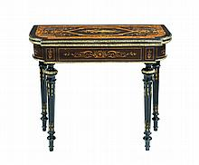 A Napoleon III  playing table