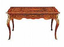 A French rose wood writing desk