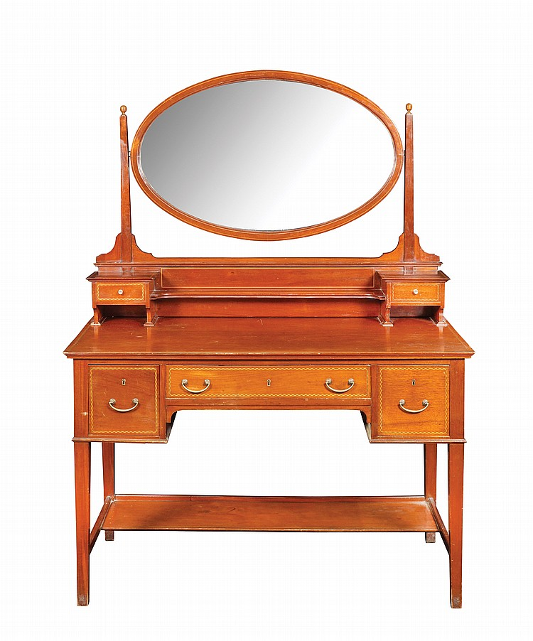 A mahogany dressing table