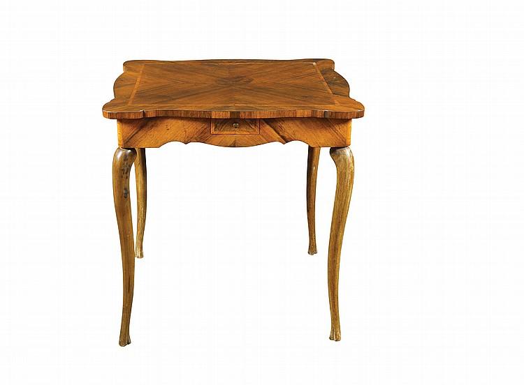 An Italian palisander and bois de rose table