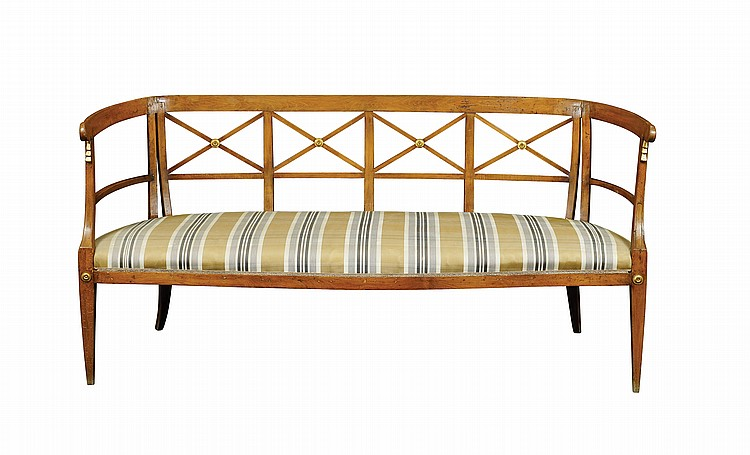 A beachwood antique sofa