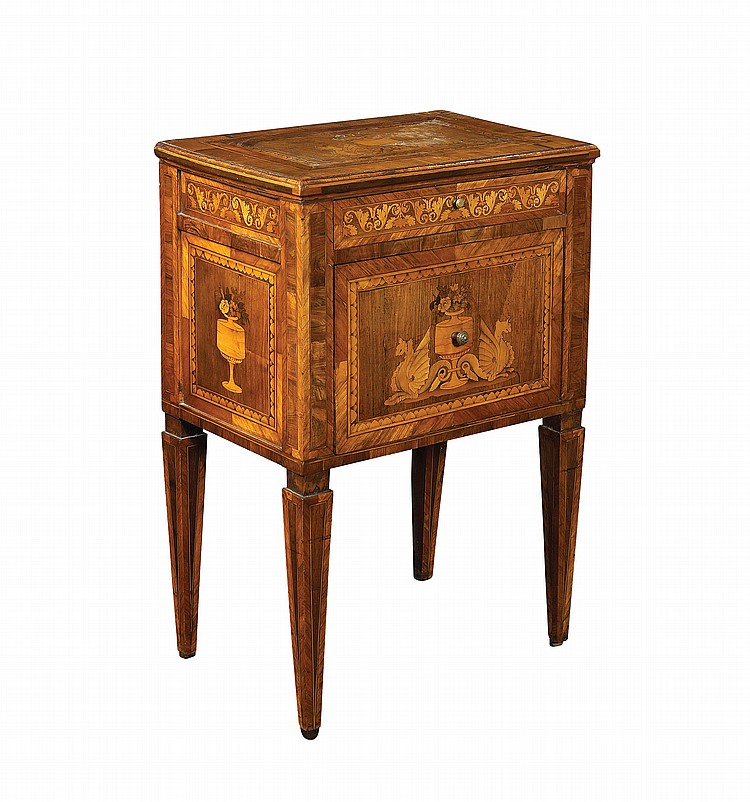 A Louis XVI bedside table