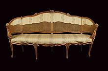 A French walnut sofa
