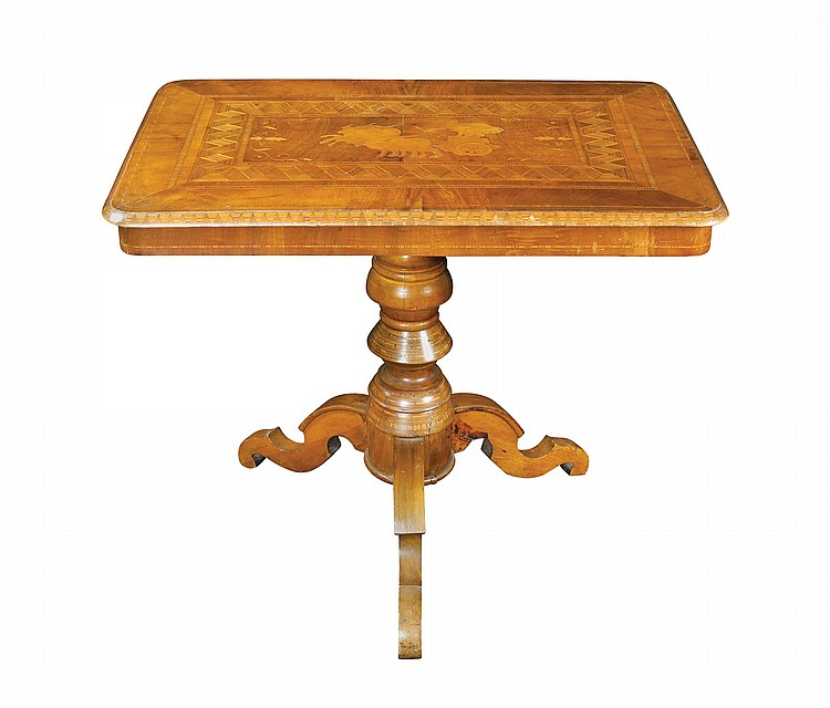 An Italian walnut Sorrento table