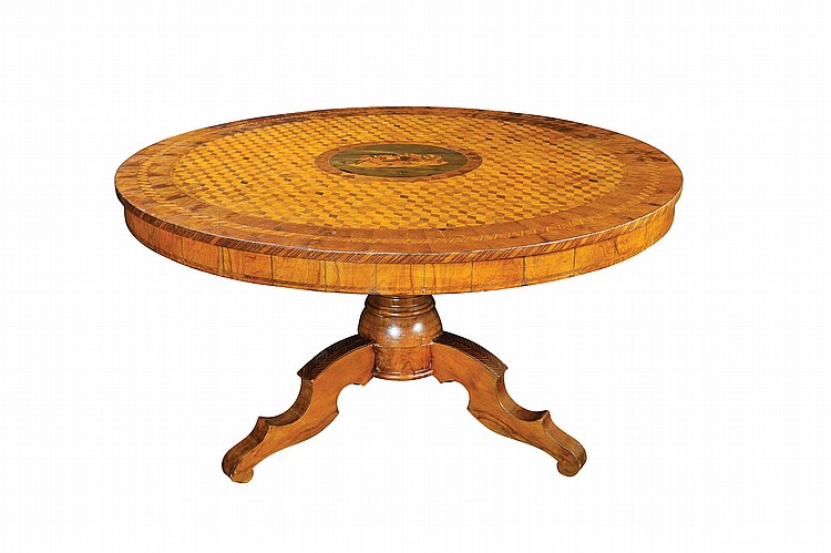 An important walnut table