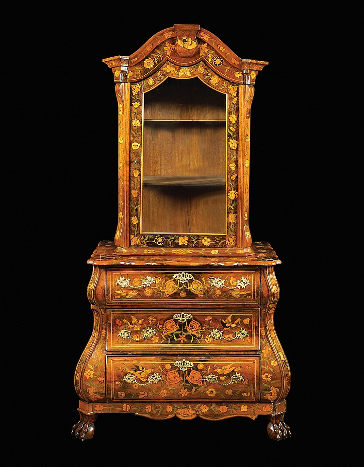 A walnut two body furniture